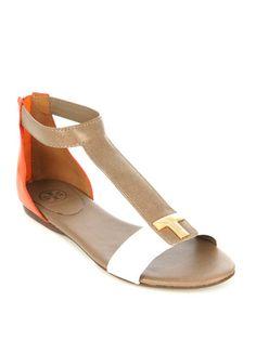 dcd0cc1d5219 Tory Burch Casey flat sandals Yes please!