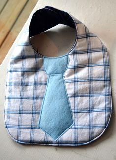 Diy bib idea. How cute would this be for a baby boy?!