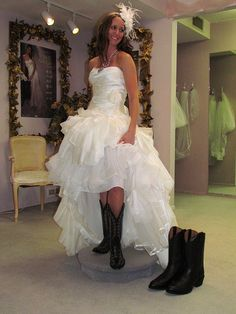i have such a pretty cousin belle bridal wedding dress laurel cowgirl boots