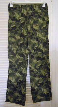 Boys/ Girls Camo Pants Size 14 New - Cherokee #Cherokee #CARGOCAMOUFLAGEPANTS #Everyday