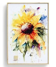 Look at this #zulilyfind! Sunflower Canvas Wall Art #zulilyfinds