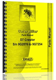 Caterpillar D7 Crawler Parts Manual