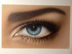 Eye Airbrush Painting on Illustrationsboard