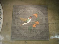 REPIN !!!Humming Bird Garden project piece completed...IMAGINE THIS IN YOUR LITTLE PIECE OF HEAVEN!!!  www.paverartllc.com