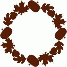 Silhouette Design Store - View Design #69008: harvest wreath