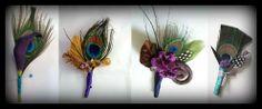DIY: Peacock Boutonnieres