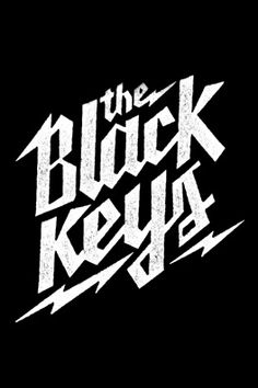 Pretty cool band whose name is the Black Keys Typography Letters, Typography Design, Hand Lettering, Typography Logo, Gig Poster, Design Graphique, Art Graphique, Album Design, Rockband Logos