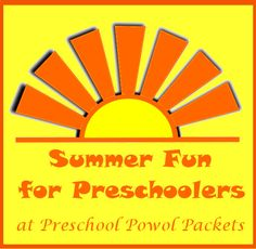 Summer Fun for Preschoolers: Sight Word Stomp   Preschool Powol Packets