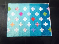 O's ombré quilt. The light colored fabrics are baby clothes from her first year of life. | Flickr - Photo Sharing!