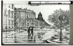 Das ist auch eine tolle Zeichnung! Total detailliert und es wurde alles bedacht! Die feinen Linien und der Hintergrund,perfekt!❤️