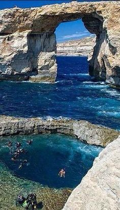 Azure Window, Malta, one of my favorite places in the world to see! Places Around The World, Oh The Places You'll Go, Places To Travel, Travel Destinations, Places To Visit, Dream Vacations, Vacation Spots, Vacation Rentals, Wonderful Places