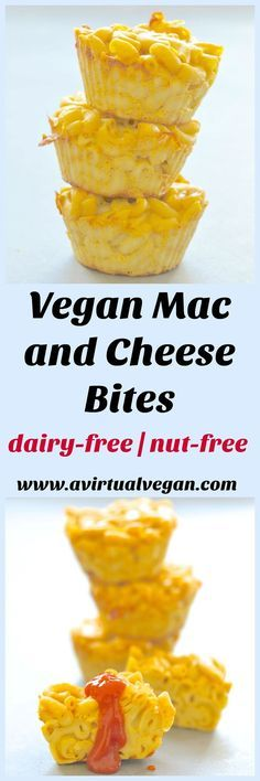 A twist on an old favourite. These Vegan Mac and Cheese bites are perfect for after school snacking or packed lunches and are incredibly quick & easy to make! via /avirtualvegan/