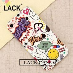 Sexy Girl Graffiti Letter case Hard PC Red Lip Wave Point Phone Cases For iphone 7 6 6s Plus