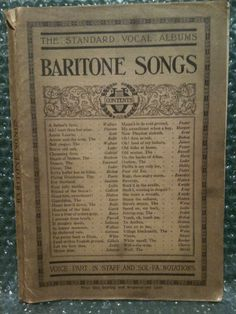Baritone Songs First Series - Standard Vocal Albums - Bayley & Ferguson