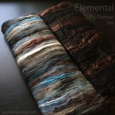 ELEMENTAL Ply Partner Set: Hand-carded Batts for by YARNSHINE
