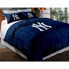 Monogrammed Yankees Bedding