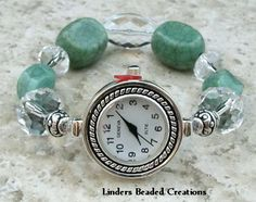Stretch Beaded Watch Band by LindersCreations on Etsy, $20.00