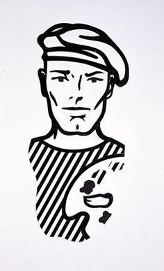 Roy Lichtenstein - Untitled (Self Portrait) (1997)