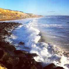 Beautiful Barton on Sea Hampshire UK Hampshire Uk, Fossil Hunting, Picnics, Seaside, Places Ive Been, New Homes, Swimming, Spaces, Water