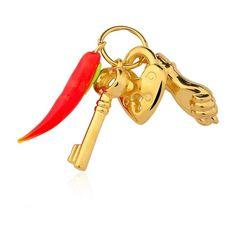 Pingente Amuleto da Sorte #pingente #amuleto #sorte #pimenta #chave #coracao #figa #folheado #ouro #fashion #moda #tendencia #acessorios #inlove #amomuito #loucasporacessorios #fmelos