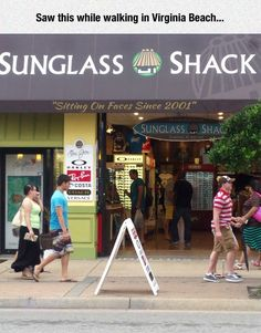 You're doing it right, Sunglass Shack.