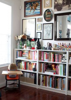 A Colourful, Happy, Eclectic Home - Shelves & a Gallery Wall! Love it!!