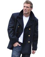 VINTAGE NAVY PEA COAT MENS CLASSIC ARMY REEFER JACKET BRANDIT