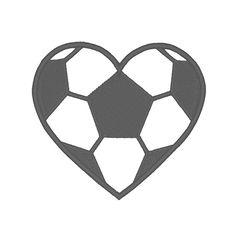 Designs :: Sports :: Soccer Heart Applique