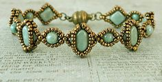 Linda's Crafty Inspirations: Free Beading Pattern - Silky Cameo Bracelet