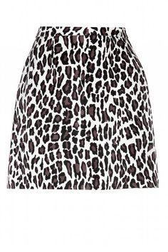 MSGM Printed Wool and Silk-Blend Skirt, $453; mytheresa.com