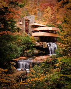 Fallingwater, a Frank Lloyd Wright structure near Pittsburgh