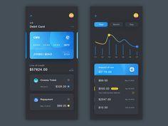 credit card layout credit card by Romeo M. Dashboard Design, App Ui Design, Mobile App Design, User Interface Design, Dashboard Ui, Card Ui, Credit Card Design, Website Design Layout, App Design Inspiration