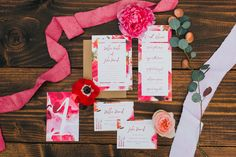 floral wedding invitations - photo by Maple and Elm Photography http://ruffledblog.com/modern-garden-wedding-inspiration