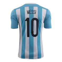 ADIDAS ARGENTINA LIONEL MESSI HOME JERSEY 2015/16 A player who needs no introduction, Lionel Messi can do it all. The sublimely gifted forward has won the FIFA World Player of the Year award and helpe