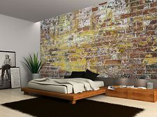 Old Stone Brick Brown Retro Wall Mural Photo Wallpaper GIANT WALL DECOR