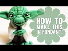 Fondant Cake Toppers #14: How to create Yoda from Star Wars - Cake Topper Tutorial - CakesDecor