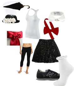 """Mary Poppins Running Costume"" by jessica-siskey on Polyvore"