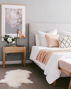 Bedroom design ideas,bedroom decor ideas,grey and pink bedroom Home Decor Apartment bedroom gray and gold bedroom grey and rose gold bedr. Home Decor Bedroom, Bedroom Makeover, Home Bedroom, Gold Bedroom, Small Apartment Bedrooms, Apartment Bedroom Decor, Home Decor, Room Inspiration, House Interior
