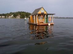Floating cabin in #gloucester #massachusetts | Kate Loring #interiors #interiordesign #architecture #decoration #interior #home #design #camper #bookofcabins #homedecor #decoration #decor #prefab #diy #campervan #compactliving #fineinteriors #cabin #shed #tinyhomes #tinyhouse #cabinfever #FABprefab #tinyhousemovement #airstream #treehouse #cabinlife #cottage