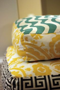 How to Make Giant Floor Pillows. ...maybe if I made these my kids would stop using my couch cushions... #floorpillows