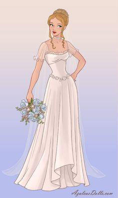 Disney Princess Dresses, Princess Art, Wedding Dress Drawings, Azalea Dress Up, Barbie Images, Disney Aesthetic, Cute Disney, Princesas Disney, Girl Cartoon