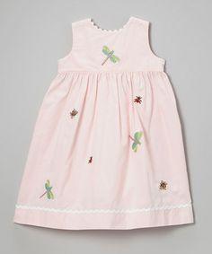 Loving this Pink Bug A Boo Rickrack Dress - Toddler & Girls on #zulily! #zulilyfinds