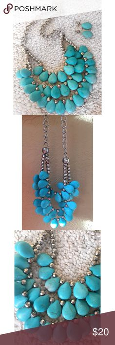 ❤️ Turquoise necklace & earrings set ❤️ Turquoise necklace & earrings set Charming Charlie Jewelry Necklaces