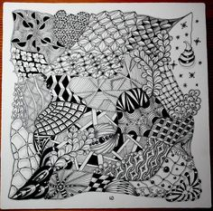Zentangle OPUS Tile 27 x 27 cm