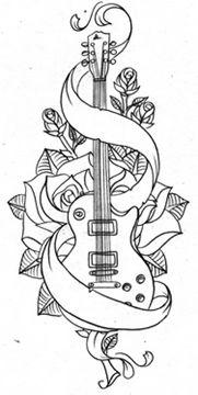 Tatuajes de guitarras - Tendenzias.com