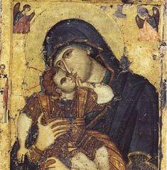 Πως αναγνωριζουμε την Παναγια σε Ορθοδοξη εικονα Religious Art, Religion, Faith, Painting, Prayers, Spirituality, Christian, Facebook, Byzantine Art