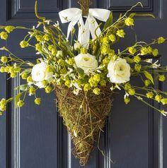 DIY Spring Wreath Door Basket