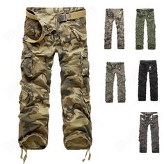 651b0c32b2b Buy 2014 New Mens Casual Sport Pants Trouser Cargo Military Working Fashion  Trending 7 Colors 6 Sizes without belt at Wish - Shopping Made Fun