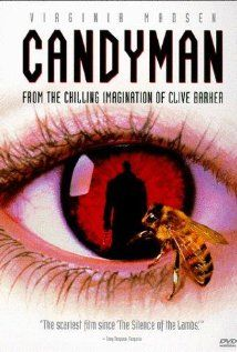 Candyman (1992), PolyGram Filmed Entertainment and Propaganda Films with Virginia Madsen, Tony Todd, and Xander Berkeley. An adaptation of a short story by Clive Barker. Not bad. Pretty well done.