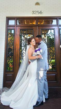 Heather grey Allure trim fit tuxedo with purple accents Purple Accents, Maybe One Day, Tuxedo, Heather Grey, Wedding Dresses, Fit, Ideas, Fashion, Bride Dresses